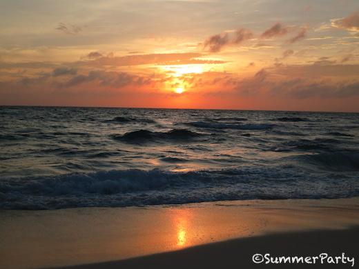長間浜の夕景