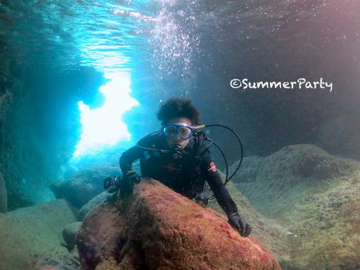 宮古島青の洞窟で体験ダイビング