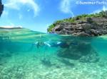 池間島フナクスビーチでシュノーケリング
