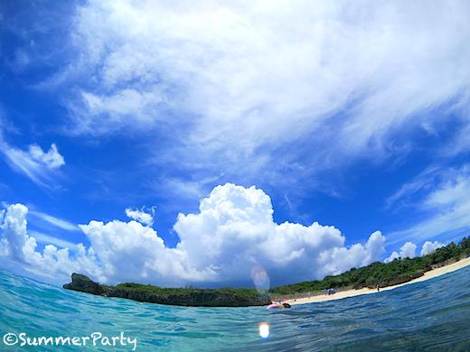 フナクスビーチ夏雲