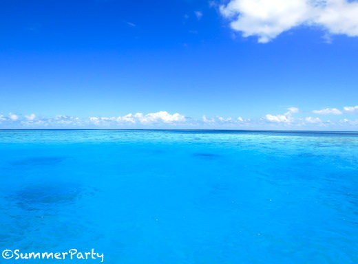 八重干瀬ブルーの海