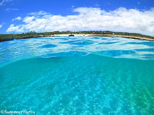 透明度抜群のシギラビーチ