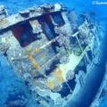 八重干瀬の沈船タグボート