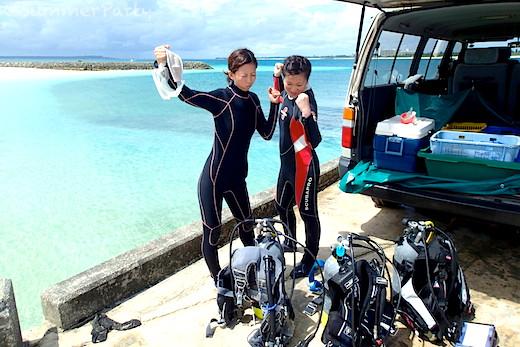 宮古島で体験ダイビング さぁ潜るぞ!