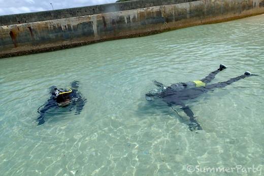 体験ダイビング 呼吸の練習