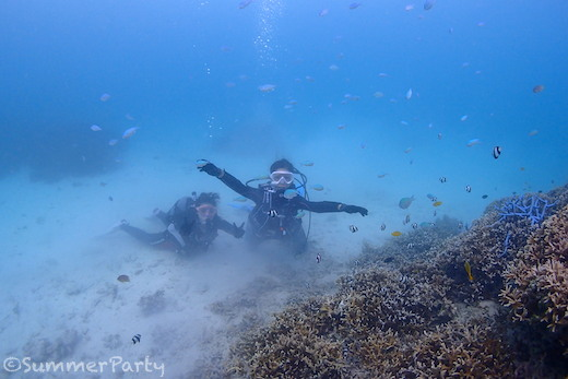 宮古島で体験ダイビング お魚に囲まれて