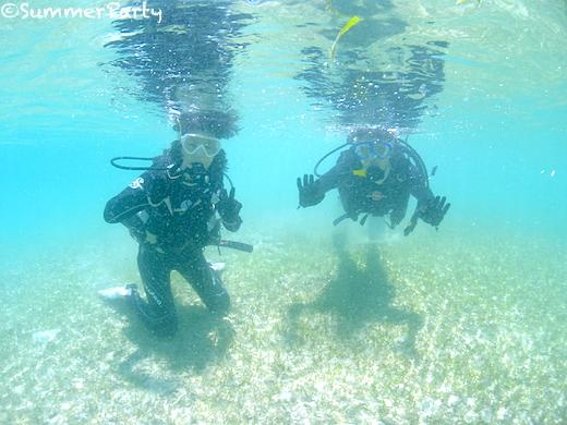 来間島で体験ダイビング