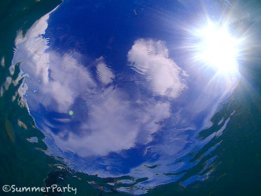 水底から見上げた空