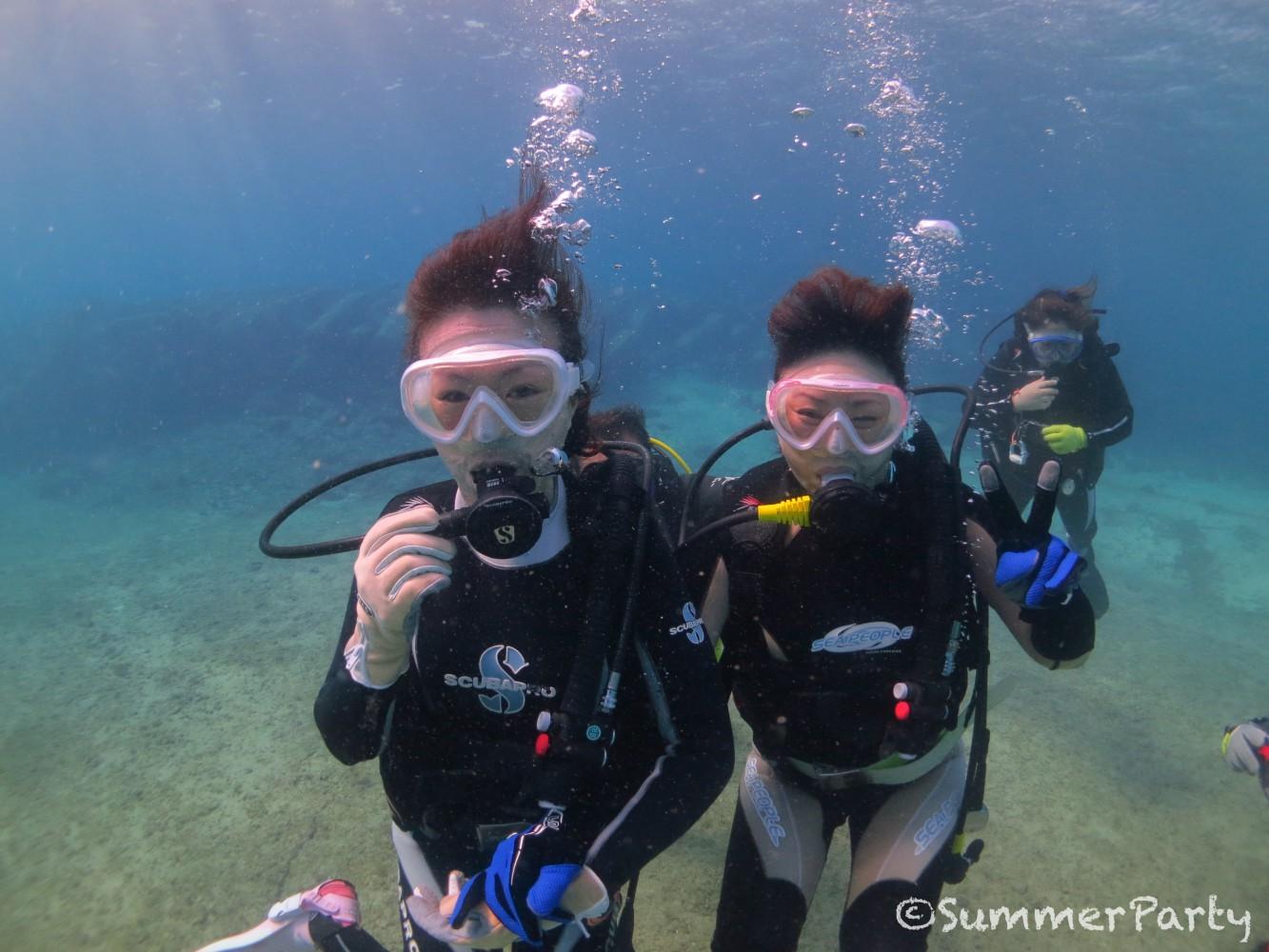 宮古島で初ダイビング