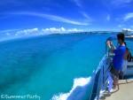 池間ブルーの海