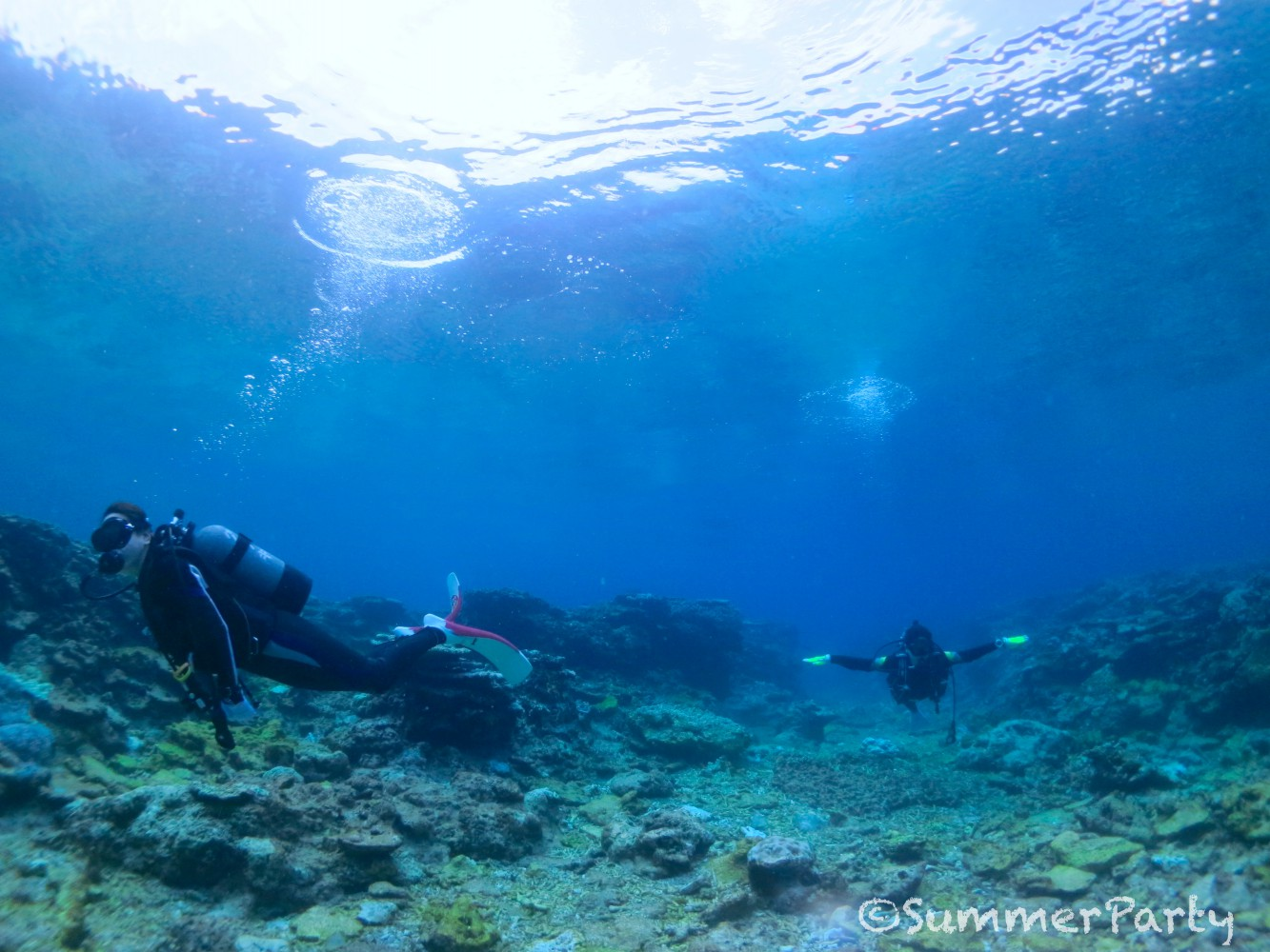 ヤビジの海で快適ダイビング